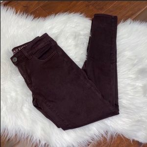 AEO Maroon Purple Jeggings Size 4